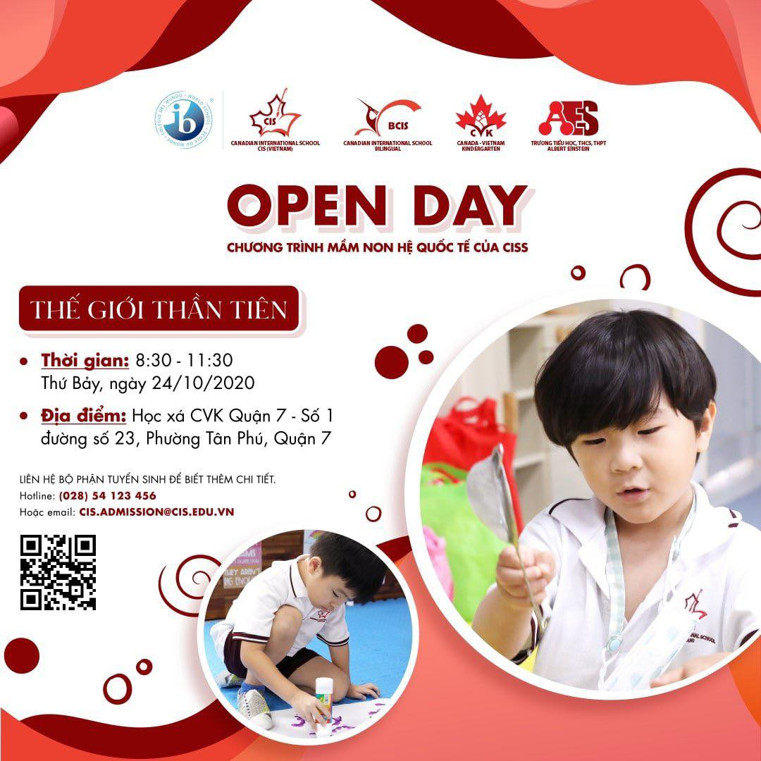 Join our OPEN DAY and receive a 100% REFUND on TUITION FEE when registering our CIS ONTARIO KINDERGARTEN
